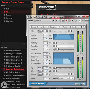 2. Placing the Sonitus:fx Reverb and Breverb in series produces some highly unusual and very smooth reverb effects.
