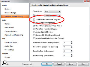 For a painless ReWire experience, make sure you untick 'Share Drivers With Other Programs' under Audio Playback and Recording in the Preferences menu.