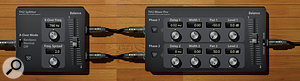4. This setup effectively makes a stereo electric piano from a mono sound.