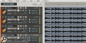 The cloned tracks and effects should appear in the track view, as shown here.