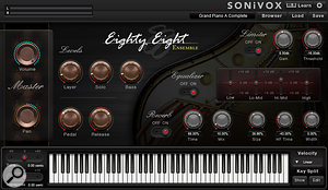 Eighty Eight Ensemble, a  multisampled concert grand piano with built-in additional instruments, pads and textures.