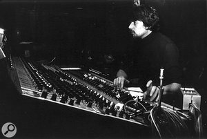 John Wood in the Sound Techniques control room, 1974.