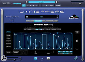 Complex envelopes such as this are easy to create in Omnisphere.