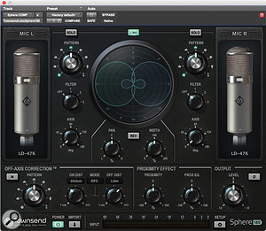 Stereo recording with the Sphere microphone is handled by the separate Sphere 180 plug-in.