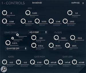 Phobos' advanced controls allow you to alter pan, level, envelope, start offset, pitch, speed ratio and time/pitch behaviour of the samples. Also included are two simple, extremely effective high-pass and low-pass filters.