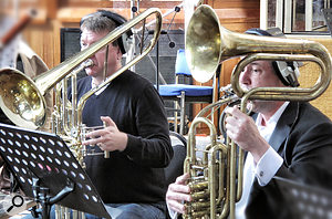 BML's cimbasso duo. The cimbasso is a  floor-standing, contrabass brass instrument with a  trombone-like sound.