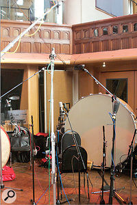 96 microphones were used during the sampling sessions.