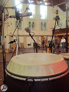 Air Studios' reverberant hall acoustic is captured by HZ01's 'room' and 'surround' mic positions, while a  third, 'close miking' provides definition and detail.