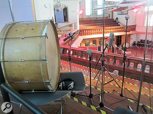 For this project the producers took full advantage of the Air Studios gallery's unusual acoustics.