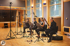 Woodwind players in AIR Studio One.