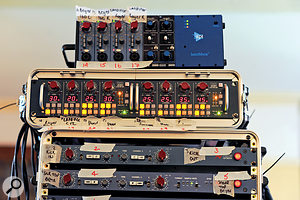 Just some of the many preamps involved in the recording.