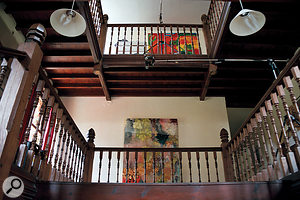 This is why we're here: the stairwell that lent its ambience to so many classic recordings.