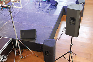 The side balconies were catered for by two supplementary speakers, one on each side of the stage, firing upwards.