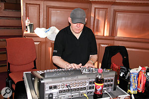 Dave Lockwood mixed the show using a  Behringer X32 Compact console.