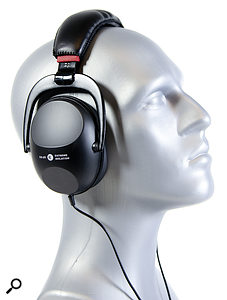 Graham the SOS headphone model, enjoying a  pair of Extreme Isolation headphones.