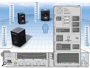 The control software for JBL's room–correcting LSR–series monitors.