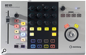 The CC121's controls may seem quite familiar, mirroring, as they do, many of the most commonly used functions in Cubase and Nuendo.