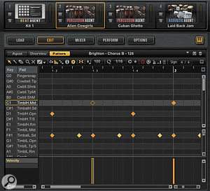 Groove Agent 4 includes a  very well-specified pattern editor.