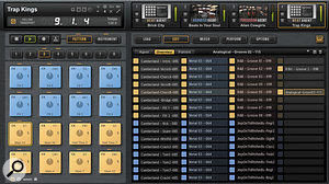 The Pattern Overview tab allows you to organise the mapping of your MIDI patterns for all four kit slots to the various pads.