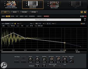Beat Agent's Sample Editor now provides awaveform display while editing the pitch, filter and amp envelopes.