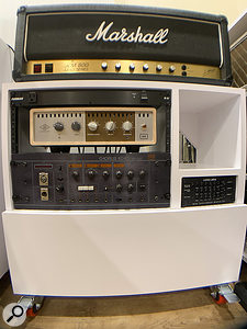 For his own guitar parts, Steve Ouimette prefers to use real amps where possible, often employing the Universal Audio OX Amp Top Box rather than a miked cabinet.