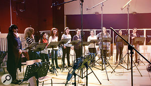 Singers of the Freyja Women's Choir, seen here in action at the Sofia Session Studio.