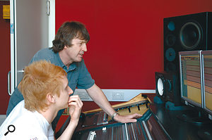 ... as Paul and John Sambrook see how things sound in the control room.