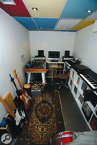 Before: the walls of the studio were causing problems in two ways. They were reflecting sound from the speakers, resulting in poor stereo imaging, and they were also letting in bass energy from another studio next door.