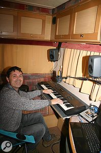 Paul Thompson enjoys his new mobile recording studio.