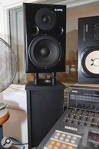 A pair of IsoAcoustics stands helped tighten up the low end of Matt's APS monitors.