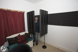 ...or used to form a makeshift vocal booth when recording.