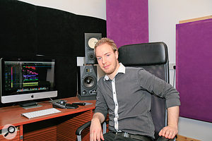 Baren Matthews enjoying his studio's improved acoustics.