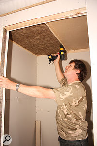 Rigid Rockwool tiles were used in the roof space, as they're easier to fit than the cheaper non‑rigid variety.