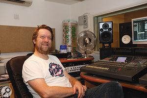 Matt Catlow enjoying his newly improved studio.