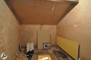 The loft space as it originally was! At the bottom of the picture, you can see the (since sealed) hatch in the floor.