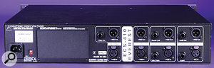 Most stages of this channel strip feature multiple output options.