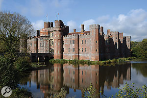 The 15th-Century Herstmonceux castle, the ballroom of which was the venue for the Symphonova performance of Mahler's Fourth Symphony.