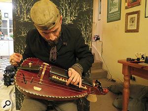 The hurdy-gurdy: a  very clacky instrument.