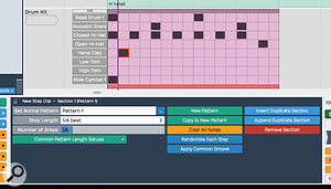 Step Clips now offer the option to route different lanes to different VST Instruments, while the Apply Common Groove function gives you access to sophisticated groove quantise options.