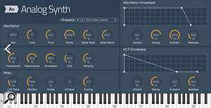 The Tracktion 6 'Plus' version adds some extra plug–ins including a  couple of virtual synths.