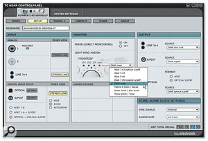 The Setup page includes options for configuring the Source level control.