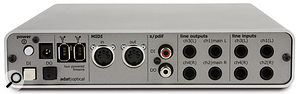 Konnekt 24D offers a four-in/four-out analogue format, with two of the inputs featuring well specified mic preamps and phantom power, 24-bit audio and sampling rates up to 192kHz. Digital I/O and MIDI I/O are also provided, all housed in a smart and compact desktop box.
