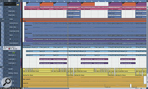 If the layout of audio in your DAW's main window looks anything like this, with lots of simple repetition of arrangement textures, then you'll almost certainly struggle to build up a sense of tension or momentum in the mix.