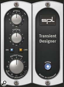 Every home studio should have at least one dedicated transient processor, if only because they can deal with overly spiky acoustic recordings so transparently. There are now plenty of plug‑in options to choose from, including SPL Transient Designer, Stillwell Audio Transient Monster, and Voxengo TransGainer shown here.