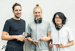 The Granular Convolver was a collaborative project created by Tatsuya with Christoph Hohnerlein (left) and Maximilian Rest (centre).