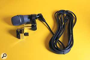 Each mic ships with its own mounting hardware (both plastic and, as pictured, metal) and 5M right-angled XLR cable.