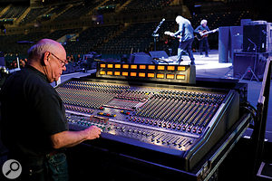 Bob Pridden at his preferred console, the Midas XL3