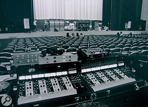 The front–of–house mixing setup for the Who's 1971 US tour included two Bob Heil–modified Sunn consoles.