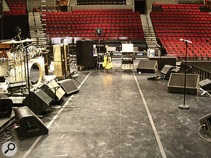 Pete Townshend's on–stage monitor setup.