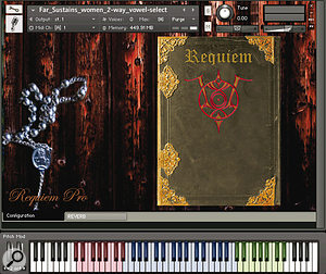 The Gothic hymn-book graphics of Requiem's user interface conceal asecret...